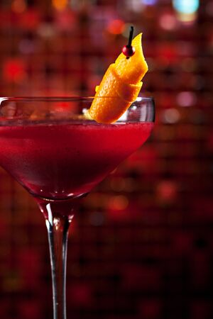 grenadine: Cosmopolitan - Alcoholic Cocktail made from Vodka, Cointreau, Lime Juice and Cranberry Juice