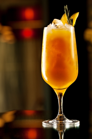 passion fruit: Rosemary Cocktail - Golden Rum, Rosemary, Fruits Juice and Syrup