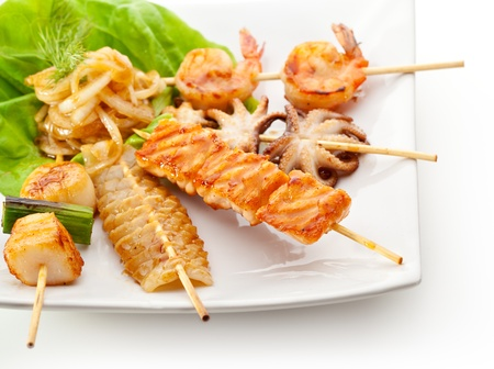 Grilled Seafood Dish photo