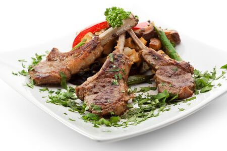 rack of lamb: Rack of Lamb with Vegetables Stock Photo