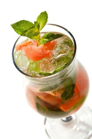 Cocktail - Mojito with Ginger and Mint photo