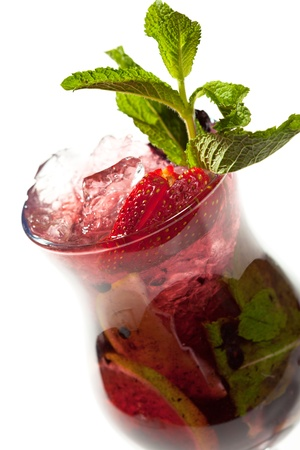Cocktail - Mojito with Fresh Berries and Lime photo
