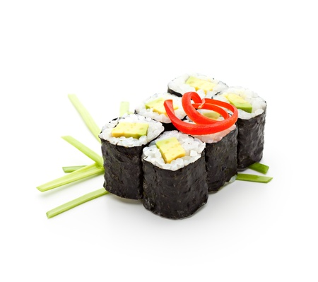 maki: Avocado Sushi Roll Stock Photo