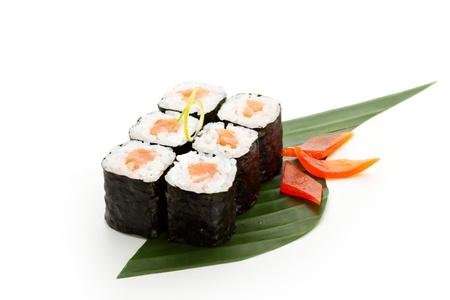 sake: Sake Maki Sushi - Roll with Fresh Salmon