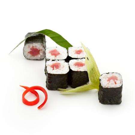 maki: Maguro Maki Sushi - Roll with Fresh Tuna