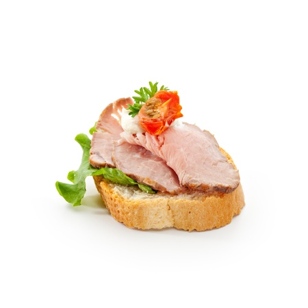 Meat Canapes - Roast Beef Medium with Sauce
