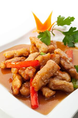 Fried Fillet of Fish with Vegetables photo