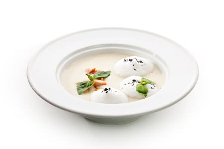 Cream of Salmon Soup with Salmon Slice photo