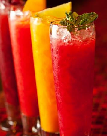Homemade Lemonades on Bar photo