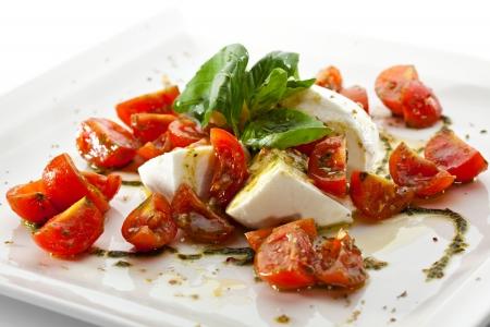 starter: Caprese Salad - Salad with Tomatoes, Mozzarella Cheese, Balsamic