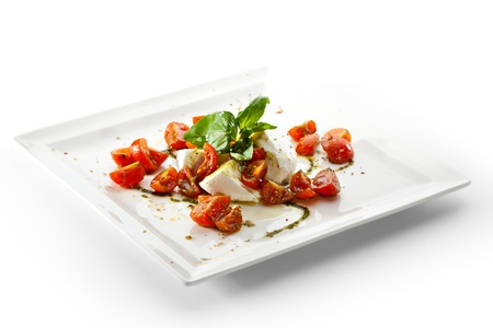 Caprese Salad - Salad with Tomatoes, Mozzarella Cheese, Balsamic