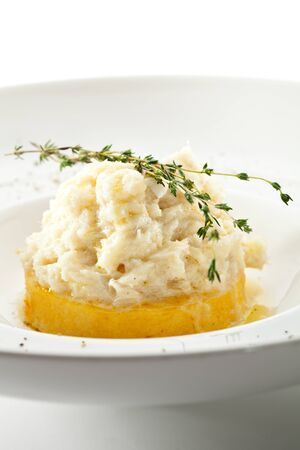 Polenta with Cream Cod photo