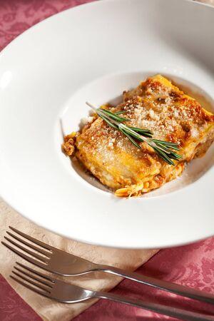 İtalyan mutfağı: Italian Cuisine - Lasagna Bolognese Stok Fotoğraf