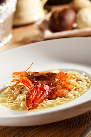 Risotto with Tiger Shrimp photo