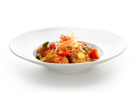 prepared food: Sweet and Sour Pork with Vegetables