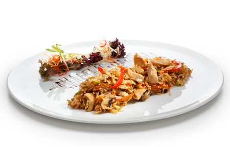 Fried Rice with Chicken and Vegetables photo