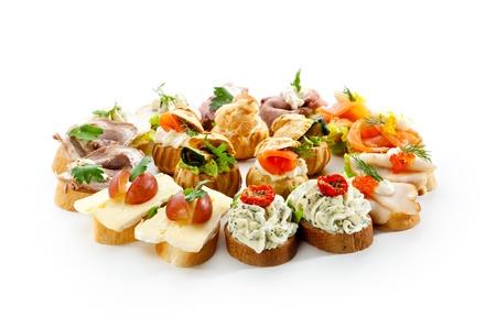 european food: Canapes