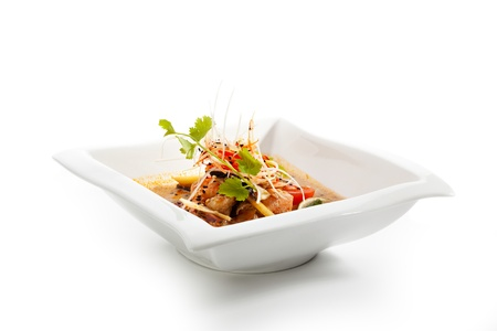 mushroom soup: Thai Dishes - Tom Yam Kung. Spicy Shrimp Soup with Coconut milk, Lime and Seafood