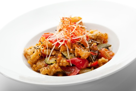 Sweet and Sour Pork with Vegetables Stock Photo - 19101351