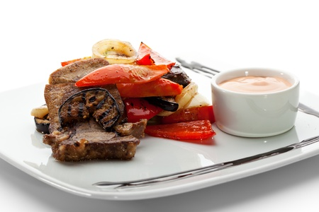 horseradish: Beef Tongue with BBQ Vegetables