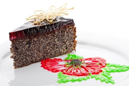cream puff: Sweet Poppy Seed Cake Stock Photo