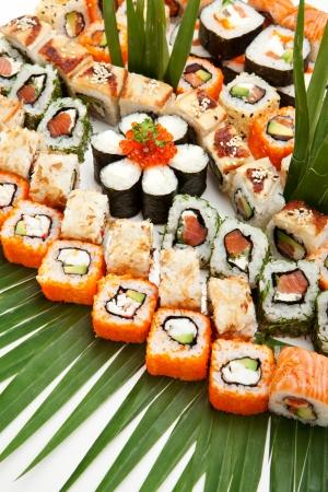 Verschiedene Arten von Maki Sushi