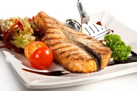 Visgerechten - Zalm Steak met groenten