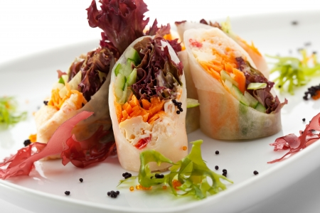 crabmeat: Roll Stuffed with Crab Meat and Vegetables