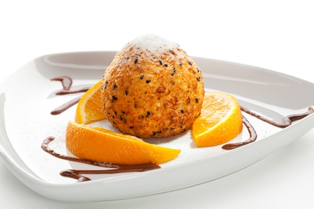 dessert plate: Dessert - Fried Ice Cream