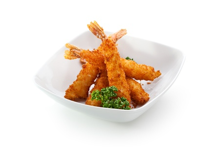 Deep Fried Shrimps with Parsley