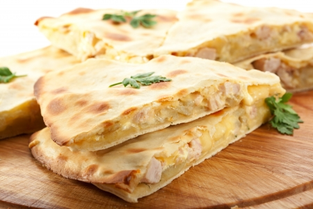 Pizza Calzone with Chicken photo