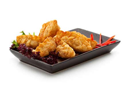 gyoza: Seafood Fried Dumpling - Gyoza Stock Photo