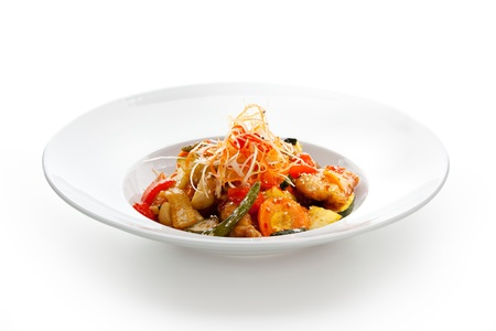 Sweet and Sour Pork with Vegetables Stock Photo - 21472289
