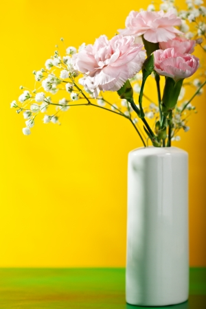 Little Flower Bunch over Yellow photo