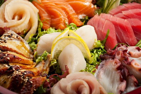 Japanese Cuisine - Sashimi Plate photo