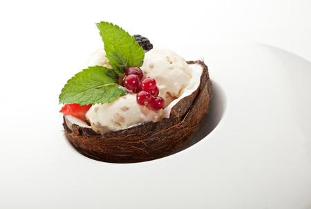 Ice Cream with Berries photo
