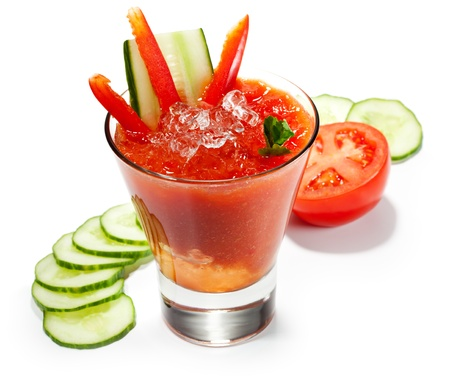 Vegetable Smoothie with Paprika, Cucumber and Tomato photo