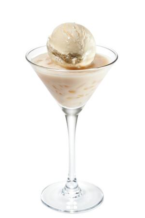 baileys: Cocktail with Ice Cream, Cointreau and Baileys Stock Photo