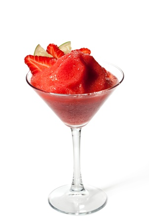 Strawberries and Lime Frozen Cocktail photo