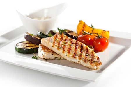 the perch: Grilled Fish Fillet with BBQ Vegetables