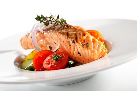 Warm Salad with Salmon Steak photo