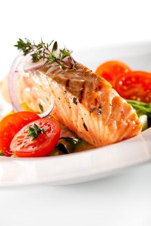 Warm Salad with Salmon Steak photo