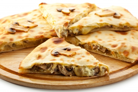 Pizza Calzone with Mushrooms photo