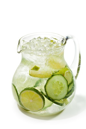 Fresh Lemonade with Cucumber and Lime photo
