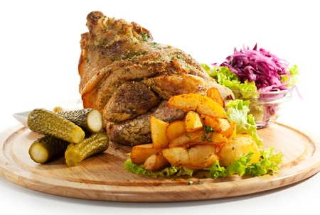 Pork Hock with Pickled Vegetables and Potato photo