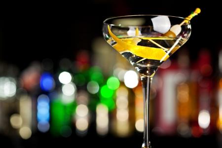 Cocktail with Lemon Zdjęcie Seryjne