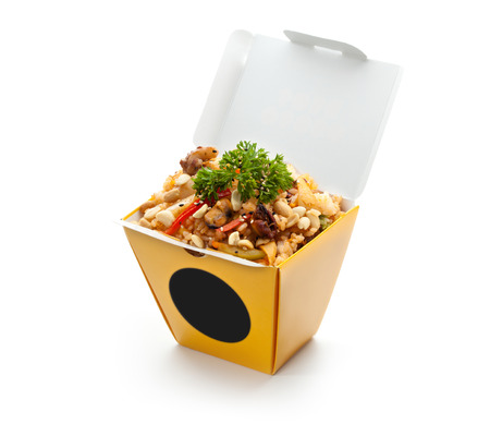 Chinese Fried Rice with Seafood, Vegetables and Nuts