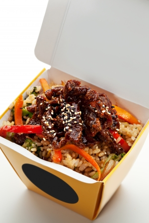 dining out: Chinese Fried Rice with Beef and Vegetables
