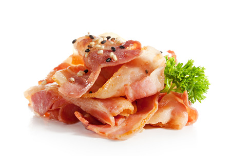 Bacon Isolated over White