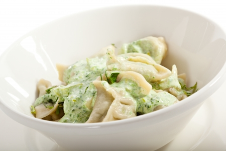 Dumplings with Spinach and Cheese photo